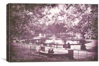 Italian Gardens - Kensington Gardens, Canvas Print