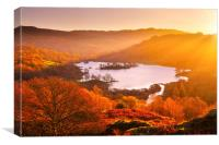 Rydal Water at sunrise, Canvas Print