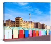 Hove seafront - Brighton & Hove, Canvas Print