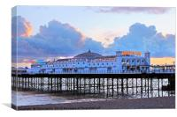 Brighton Palace Pier at twilight, Canvas Print