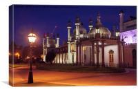 Brighton Royal Pavilion at dusk, Canvas Print