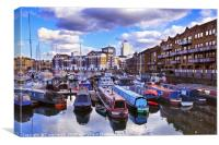 Limehouse Basin, East London, Canvas Print