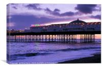 Brighton Pier - Sunset to dusk, Canvas Print