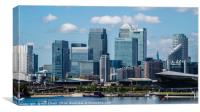 Canary Wharf Cityscape on the Isle of Dogs, Canvas Print