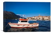 Korcula city on the island Korcula as a part of Croatia in Adriatic sea., Canvas Print