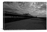 Brighton Pier Under the Clouds, Canvas Print