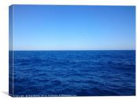 Sea, Sky, Horizon, Canvas Print