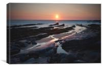 Sandymouth Sunset, Canvas Print