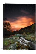 Ashness by Night, Canvas Print