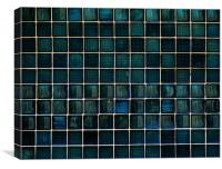 Blue glass wall, Canvas Print