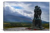 Commando Memorial at Speen Bridge, Canvas Print