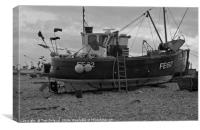 Yesteryear fishing boats , Canvas Print
