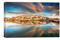 Brixham Harbour Reflections, Canvas Print
