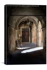 Light and shade, and bicycles, Canvas Print