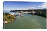 Menai bridge 1, Canvas Print