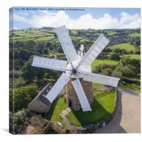 Heage Windmill, Canvas Print