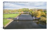 Ferry bridge Burton on Trent, Canvas Print