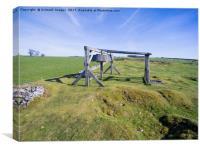 Magpie mine, mine, lead mine, derbyshire, peak dis, Canvas Print