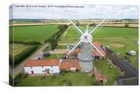 Bircham Windmill, Canvas Print