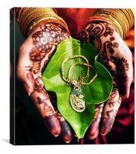 indian wedding, Canvas Print