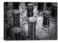 Wine in mono, Canvas Print