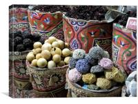 Egyptian Market Stall, Canvas Print