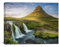 Kirkjufell Iceland at Midsummer, Canvas Print