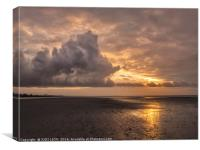 December on West Wittering Beach, Canvas Print
