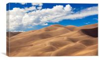 Panorama of Great Sand Dunes NP , Canvas Print