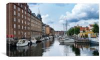 Christianshavns Kanal in Copenhagen Denmark, Canvas Print