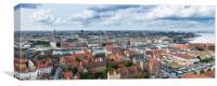 High definition panorama of Copenhagen Denmark, Canvas Print