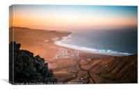 Playa de Famara Sunset, Canvas Print