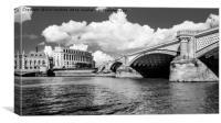 Blackfriars Bridge, London, Canvas Print