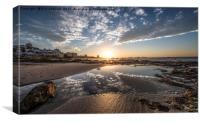 Sunset on the Beachfront, Canvas Print