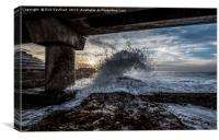 Under The Pier, South Africa, Canvas Print