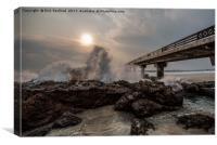 Shark Rock Pier, Port Elizabeth, South Africa, Canvas Print