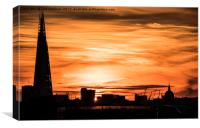 The Shard at sunset, london, Canvas Print