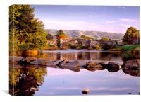 Bridge over River Conwy, Llanrwst, North Wales, Canvas Print