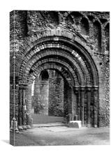 St Botolph's Priory, Colchester, Essex, England, Canvas Print