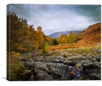 Lake District from Ashness Bridge towards Scafell,, Canvas Print