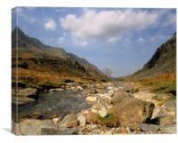 Wales: Llanberis Pass, Snowdonia, North Wales, Canvas Print