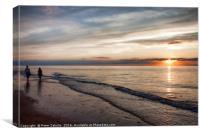 A Sunset Stroll, Canvas Print