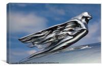 Cadillac's Flying Goddess, Canvas Print