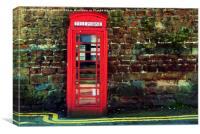 The Phone Box, Canvas Print