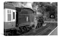 Steam at Grosmont, Canvas Print