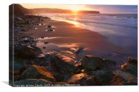Evening Light at Whitby, Canvas Print