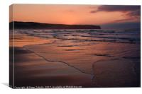 Approaching sunset, Canvas Print