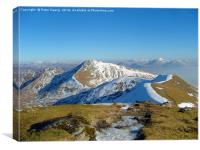 The twisty path to Beinn Eunaich, Canvas Print