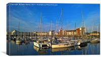 Ardrossan Marina at Sunset, Canvas Print