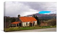 The derelict cottage in Gorstan, Canvas Print